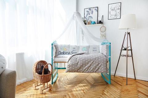 Комплект постельного белья в кроватку Панели 3-10 Серый