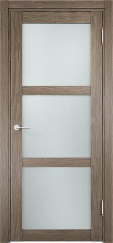 Дверь Eldorf Баден 02, стекло Сатинато, цвет дымчатый дуб, остекленная