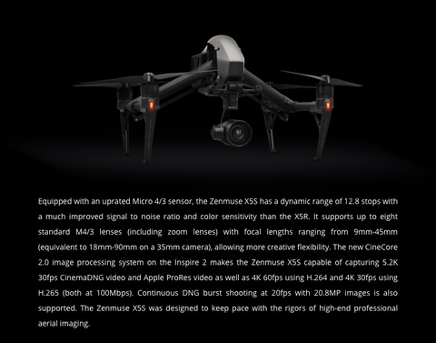 DJI Inspire 2 +  Zenmuse X5S