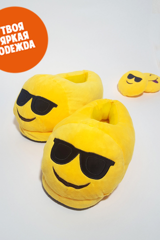 "Тапочки Emoji ""Крутой"""