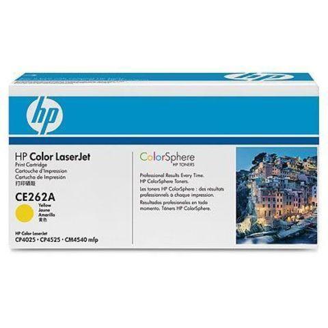 Картридж HP CE262A для HP Color LaserJet Enterprise CP4025n, CP4025dn, CP4525n, CP4525dn, CP4525xn, CM4540 mfp (желтый, 11000 стр.)