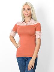 00557-2 блузка женская, оранжевая