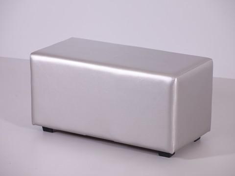 Пф-02 Пуфик прямоугольный (серебро) для дома и магазин