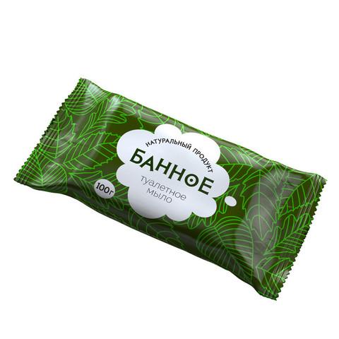 Мыло туалетное твёрдое  Банное  100 гр. РМЗ