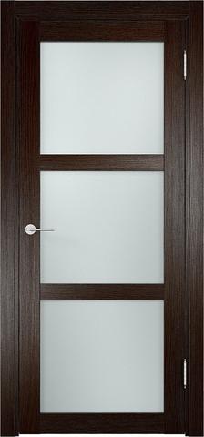 Дверь Eldorf Баден 02, стекло Сатинато, цвет тёмный дуб, остекленная