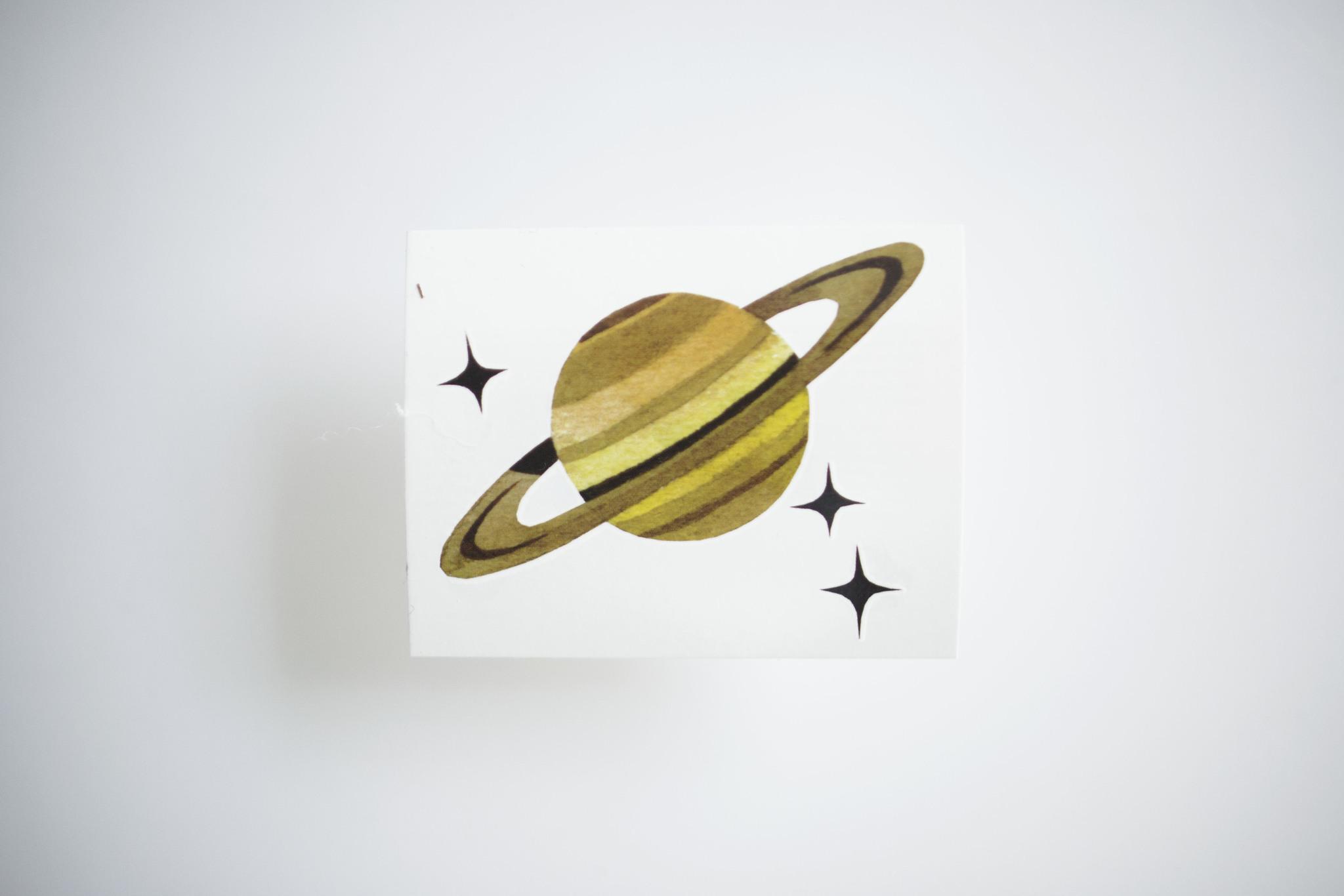 Переводная татуировка Planet