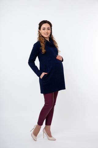 Туника для беременных 09861 синий