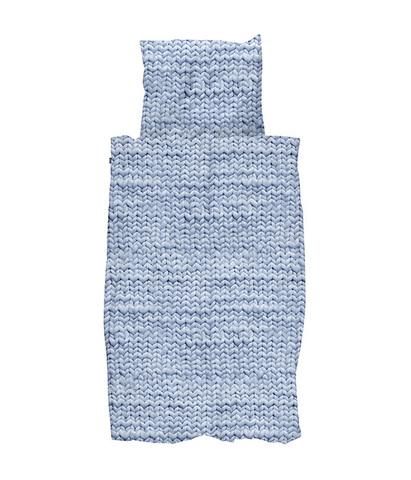 Комплект постельного белья Косичка синий 150x200см, Snurk