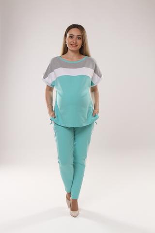Спортивный костюм для беременных и кормящих 10622 ментол