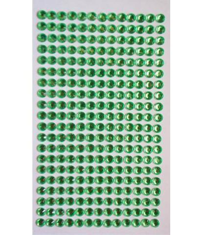 Стразы зеленые 5 мм длинные