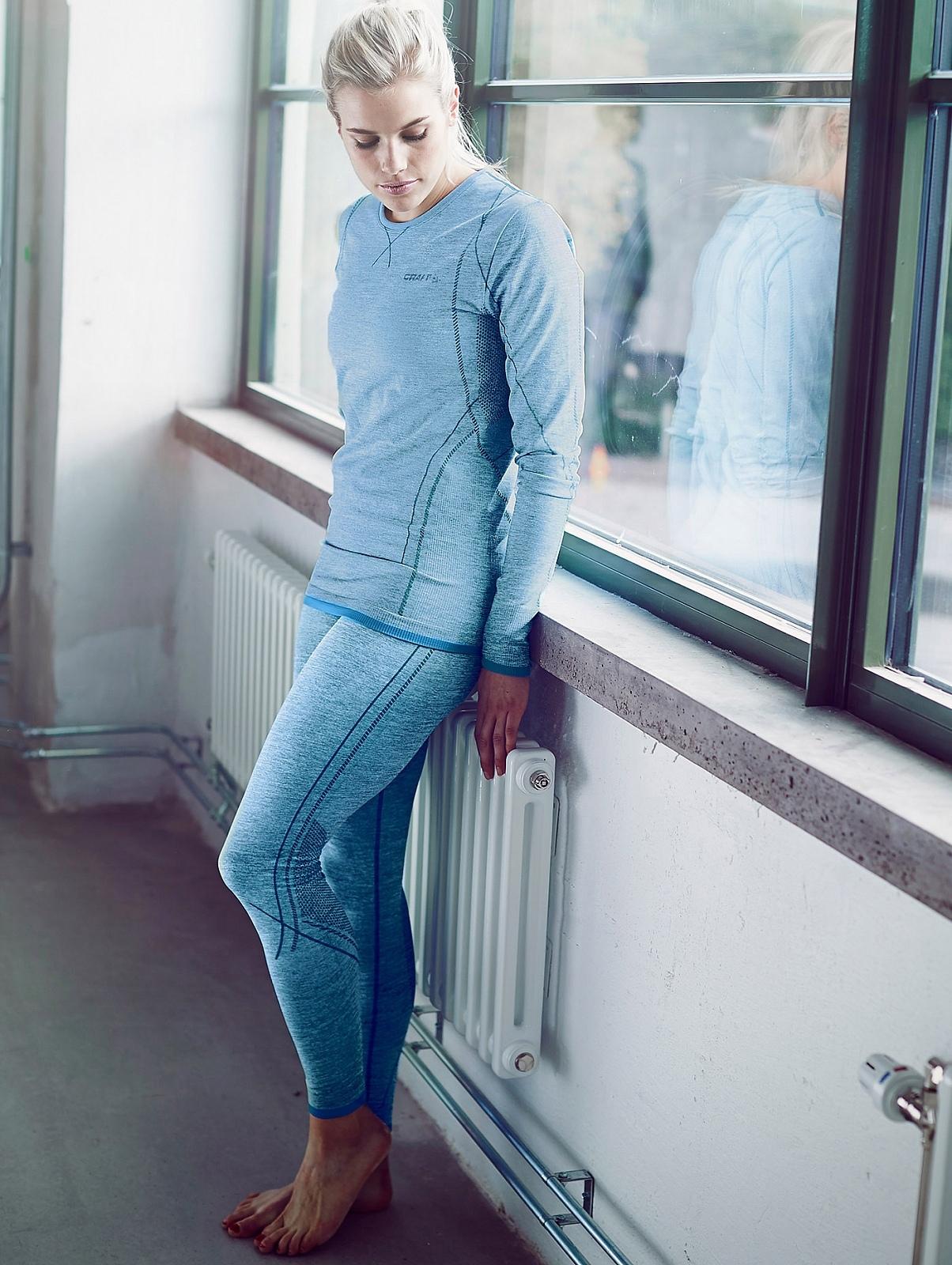 Женский комплект термобелья Craft Comfort (1903714-1903715-B320) голубой