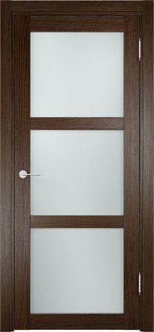 Дверь Eldorf Баден 02, стекло Сатинато, цвет дуб табак, остекленная