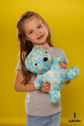Подушка-игрушка антистресс «МиниМишка Ромашковый» 2