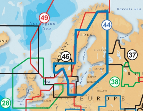 Карта: Балтийское море, Navionics+ 44XG