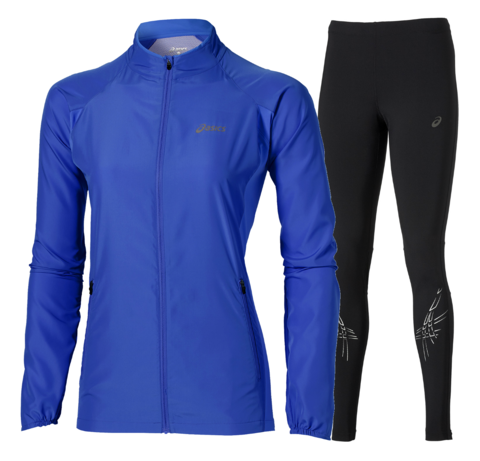 ASICS WOVEN STRIPE женский костюм для бега синий