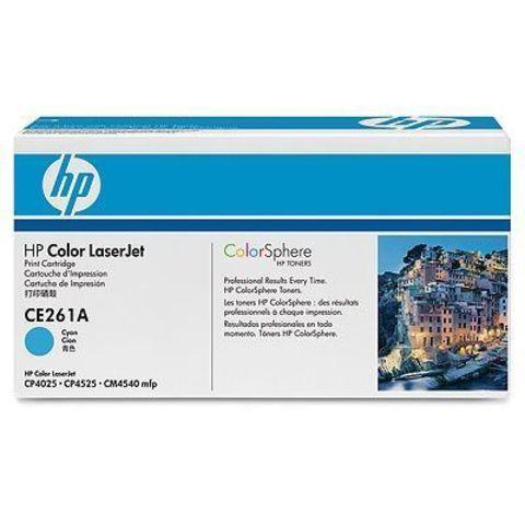 Картридж HP CE261A для HP Color LaserJet Enterprise CP4025n, CP4025dn, CP4525n, CP4525dn, CP4525xn, CM4540 mfp (голубой, 11000 стр.)