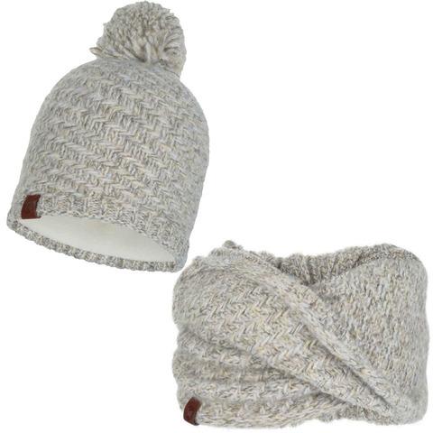 Комплект шапка-шарф Buff Agna Sand