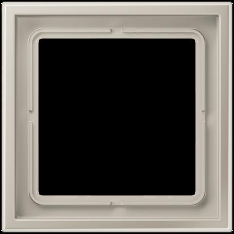 Рамка на 1 пост. Цвет Нержавеющая сталь. JUNG LS ZERO. LSZES981BF