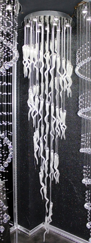 cristal  cascade chandelier  11-06  by Cristallino