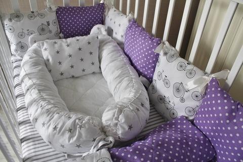 Комплект в кроватку Лавандовое настроение, на 4 стороны кроватки