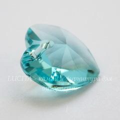 6228 Подвеска Сваровски Сердечко Light Turquoise (14,4х14 мм)