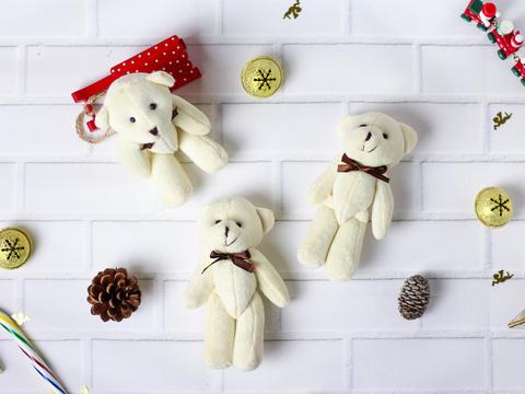 Іграшка для ляльки 14 см - ведмедик молочний великий