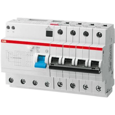 Дифф. автомат. выключатель 4-полюсный 10 А, тип AC (перемен.), 10 кА DS204 M AC-B10/0,03. ABB. 2CSR274001R1105