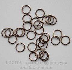 Винтажное колечко одинарное 10х0,9 мм (оксид латуни)