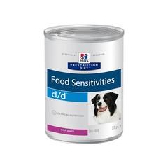 Hill's Prescription Diet d/d Food Sensitivities влажный диетический корм для собак при пищевой аллергии, с уткой 370 г