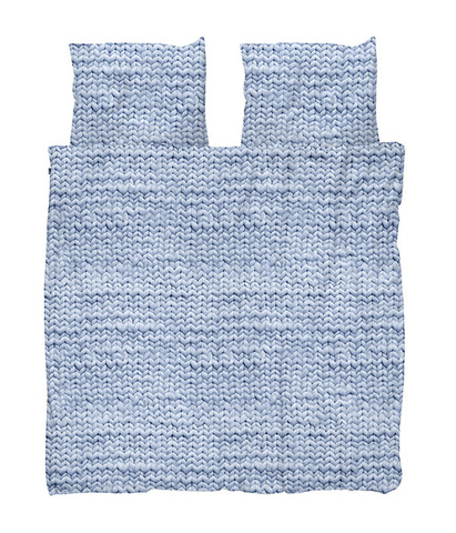 Комплект постельного белья Косичка синий 200x220см, Snurk