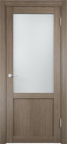 Дверь Eldorf Баден 04, стекло Сатинато, цвет дымчатый дуб, остекленная