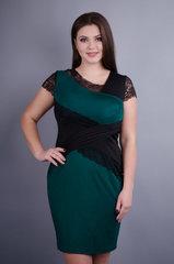 Мадлен. Платья больших размеров. Изумруд.