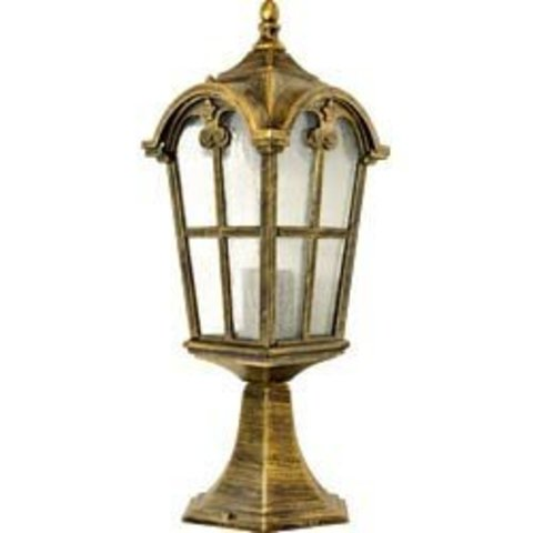 Светильник садово-парковый, 60W 230V E27 черное золото, PL105 (Feron)