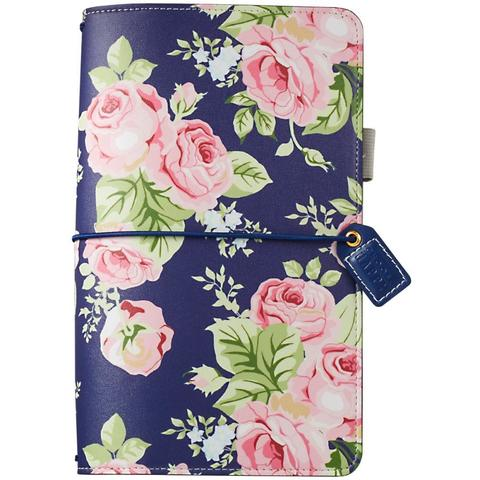 Блокнот Color Crush Faux Leather Travelers' Planner  -Navy Floral