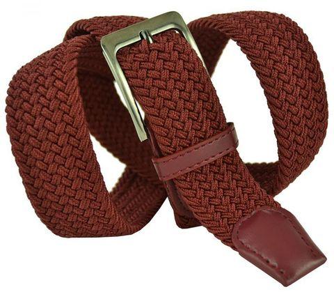 Ремень текстильный большого размера вишнёвый 35Rezinka-B-016