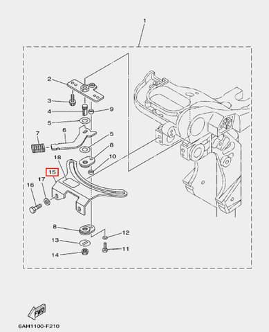Плата крепления рулевого управления для лодочного мотора F20 Sea-PRO (17-15)