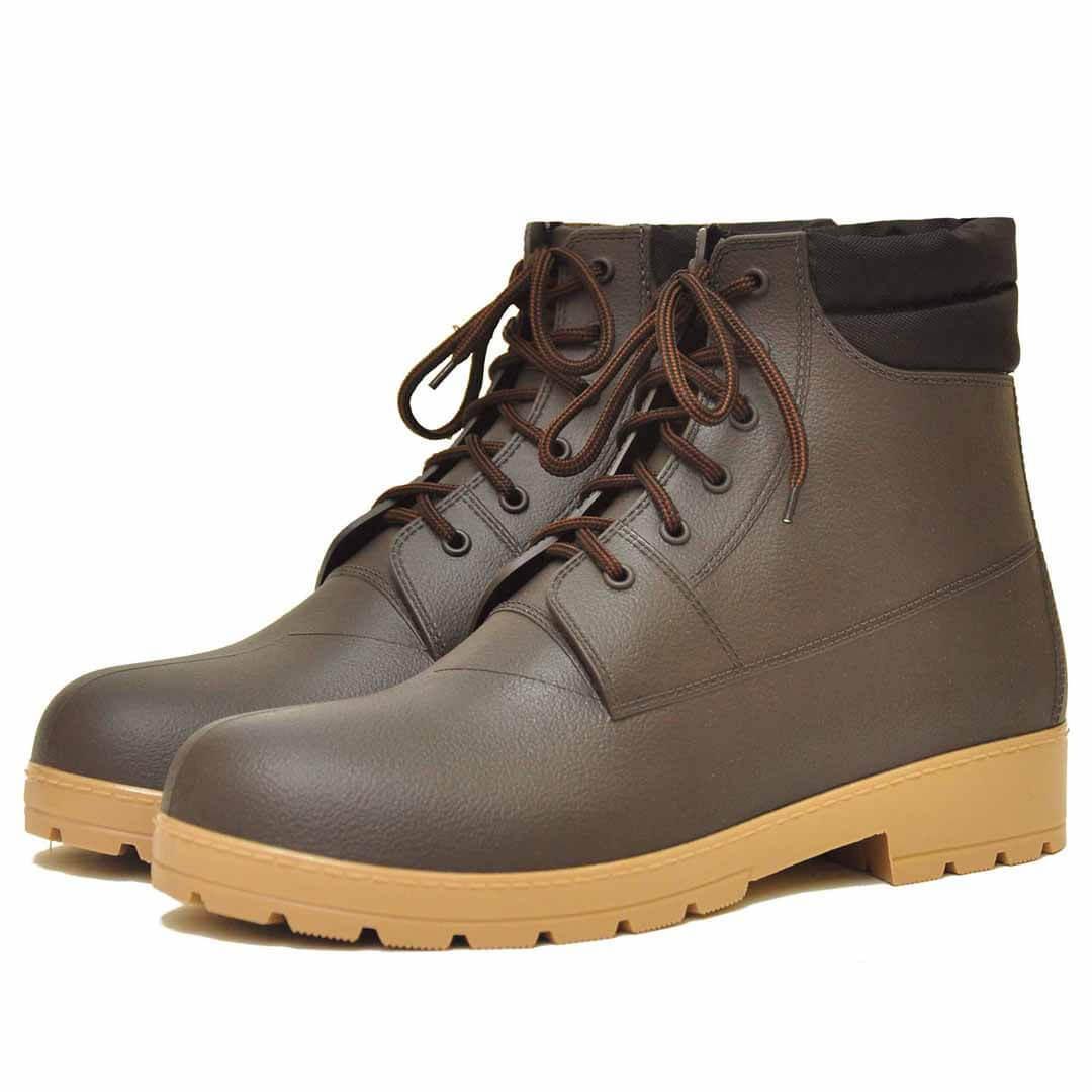 Высокие мужские ботинки Nordman Rover коричневые с бежевой подошвой