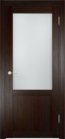 Дверь Eldorf Баден 04, стекло Сатинато, цвет тёмный дуб, остекленная