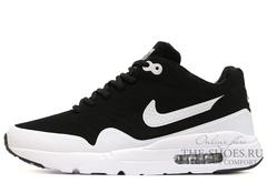 Кроссовки Мужские Nike Air Max 1 Black White ( c Мехом)