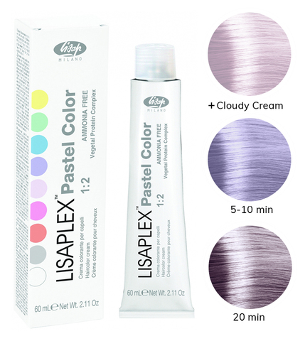 Оттенок Lilla Flower Цветок Сирени Крем-краситель для волос Lisaplex Pastel Color 60мл