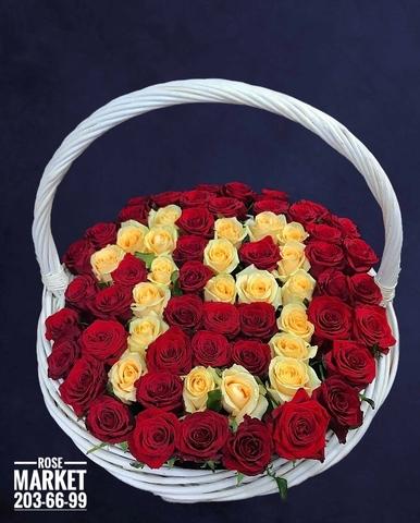 Розы в корзинке #15391