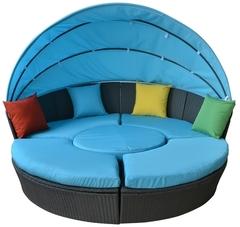 Круглый диван из искуственного ротанга Palermo