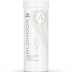 Белая обесцвечивающая пудра Wella Professional Blondor Freelights 400 мл.