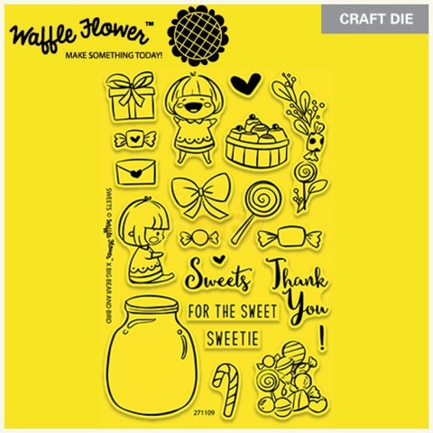 Набор штампов Waffle Flower Crafts Clear Stamps - Sweets