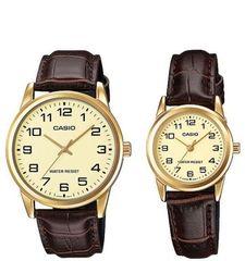 Парные часы Casio Standard: MTP-V001GL-9B и LTP-V001GL-9B