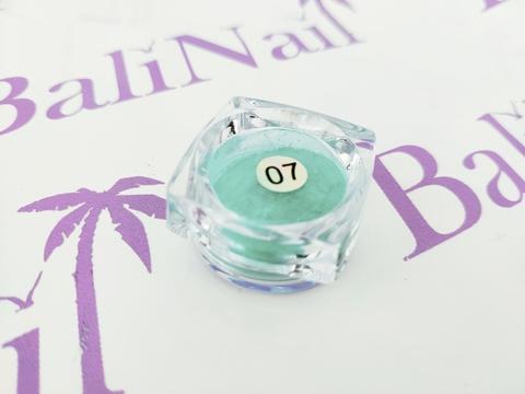 Термо-пигмент для дизайна ногтей (бирюзовый) #07