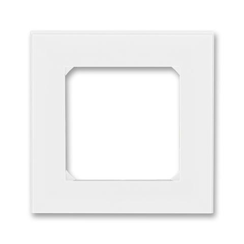 Рамка на 1 пост. Цвет Белый / белый. ABB. Levit(Левит). 2CHH015010A6003
