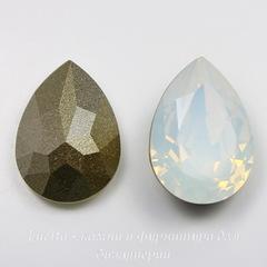 4320 Ювелирные стразы Сваровски Капля White Opal (14х10 мм)