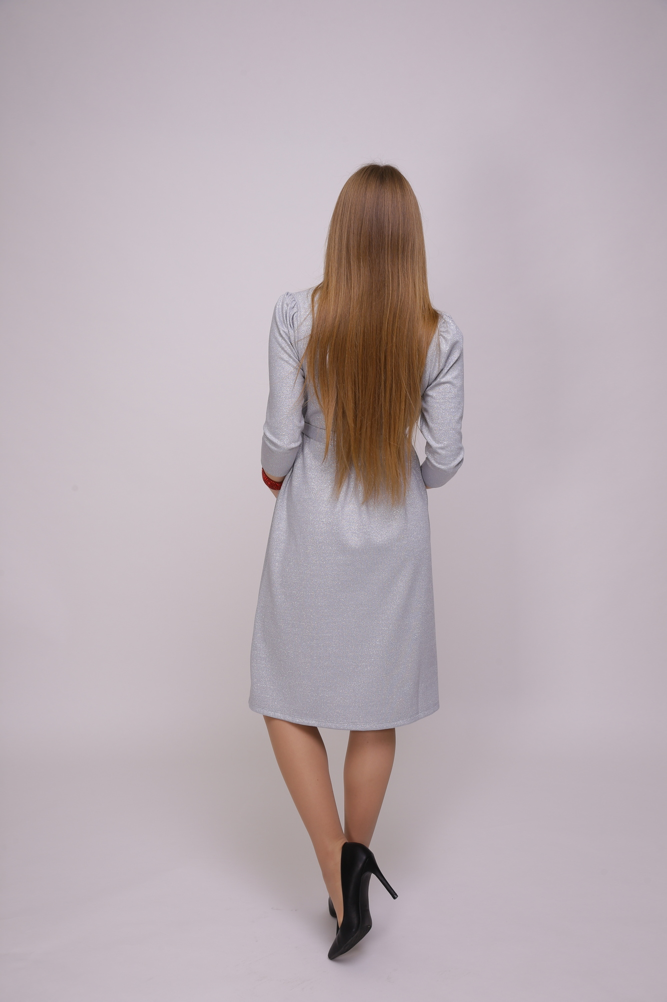 Платье для беременных 11284 серебро