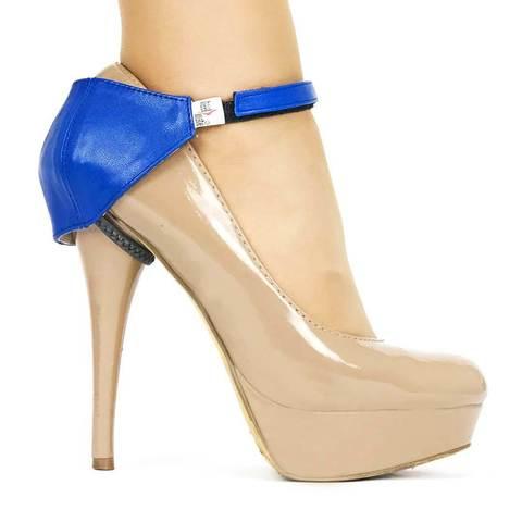 Автопятка для женской обуви на каблуке синяя